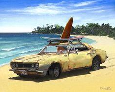 camaro in Hawaii- artwork