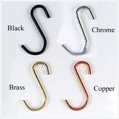 Rogar Chrome 3 S Hooks 4-pack S-Shape Hooks are used for racks with grids.. 3 hooks are for other racks.. Manufactured to the Highest Quality Available.. Design is stylish and innovative. Satisfaction Ensured.. Muti-use Hook.  #Rogar #Home