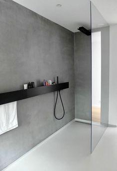 Gietvloer en microcement badkamer  Van Hollandse Bodem   Waterdichte muur schilderen voor in de badkamer  Briljante ideeën voor badkamer ontwerp  De badkamer is een zeer belangrijk onderdeel van het huis omdat het veel doel dient. Om een ideale badkamer te hebben is het algemene ontwerp een van de belangrijkste factoren waaraan aandacht moet worden besteed. Het ontwerp krijgt misschien niet veel waarde maar het heeft eigenlijk een geweldig effect vooral als je er een wilt die tegemoet komt…