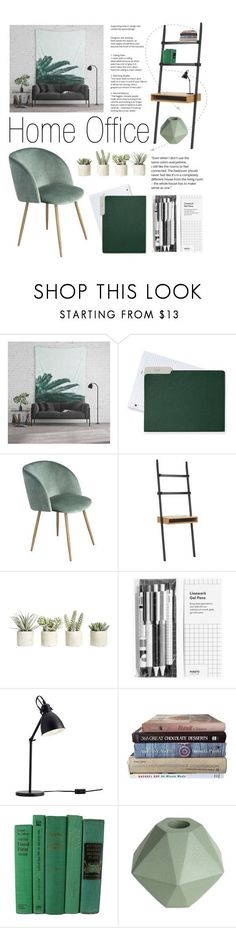 """""""Home Office: Mint Accessories"""" by artbyjwp ❤ liked on Polyvore featuring interior, interiors, interior design, home, home decor, interior decorating, Mark & Graham, Allstate Floral, Pottery Barn and home office"""