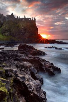 Ruins of Dunluce Castle, Northern Ireland