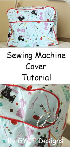 DIY Sewing Machine Cover with Piping