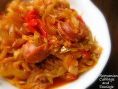 Home Cooking In Montana: Romanian Cabbage and Sausage (Varza cu Carnati). using a Pressure Cooker Hungarian Cuisine, Hungarian Recipes, Turkish Recipes, Romanian Recipes, Hungarian Food, Scottish Recipes, Pressure Cooking Recipes, Slow Cooker Recipes, Crockpot Recipes