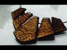 tuto fimo plastron oriental reine d'Egypte Graine créative et resine gla...