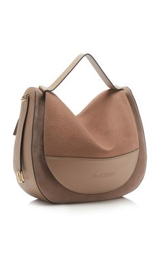 This **JW Anderson** bag is rendered in leather and features a top handle and shoulder strap. Cute Handbags, Hermes Handbags, Burberry Handbags, Fashion Handbags, Purses And Handbags, Fashion Bags, Luxury Handbags, Leather Purses, Leather Handbags