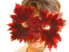 best art crafts for children | fauna leaf mask 600x450 Kid activities for fall