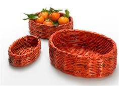 Here's the 3-piece oval basket set - fruits, cosmetics, spices, letters - we've seen so many uses!