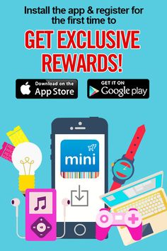 Get better shopping on the go! First-time app downloads will get EXCLUSIVE rewards! Repin to share the love!