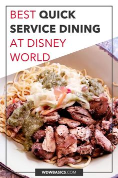 Best Quick Service at Each Disney World Park // WDW Basics // What are the best quick service restaurants at Disney World? Here are the top Disney quick service dining based on menu, seating, value, and more! // PIN THIS and TAP TO READ #disneyworldrestaurants #disneydining Dining At Disney World, Disney World Food, Disney World Restaurants, Disney Dining Plan, Unique Recipes, Great Recipes, Mexican Menu, Food Kiosk, Dining Menu