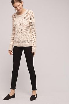 Macrame Wool Sweater - anthropologie.com