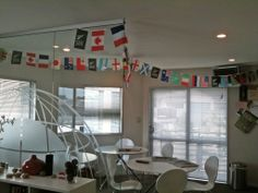Rugby World Cup Decorations at our Auckland, NZ offices. Go the ALL BLACKS!