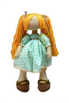 Boneca Russa feita pela artesã Millyta Vergara do Ateliê Millita coma coleção - 025 - Shabby Chic da Tecidos Fabricart