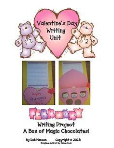 Valentine's Day Writing & Craftivity Project (17 page February writing unit) - Deb Hanson - TeachersPayTeachers.com