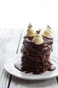 Chocolate Lovers Pumpkin Fudge Brownie Pancakes with Chocolate Kahlua Sauce -6