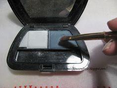 eyeshadow on polymer clay - I have plenty!