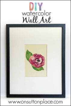 Make inexpensive DIY Watercolor Wall Art with craft store frames and your inkjet printer. No skills required!