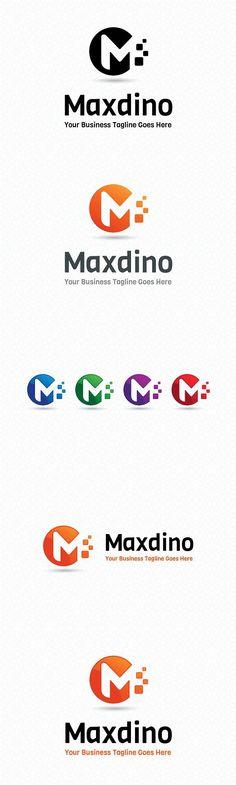 Maxdino Logo Template