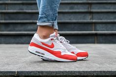 free shipping b8be1 3a276 Women Nike Air Max 1  Habanero Red