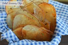 Baked Rosemary Potato Chips! Healthy potato chips that taste amazing!