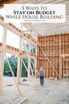 Stay on Budget While House Building. 5 ways to stay on budget while designing & building your dream home. Tennessee, Build Your Own House, Build Your Dream Home, Home Building Tips, House Building, Building Ideas, Building Your Own Home, Building A House Checklist, Building Design