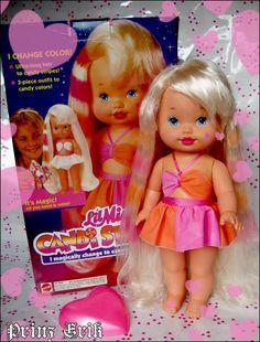 Lil Miss Candi Stripes 1993 ♡. I had this doll, but mine was black.