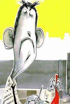 """""""Die schwarzhumorige Geschichte mit herrlich schrägen Details, ganzseitigen Kitzelzeichnungen und kolorierten Collagen, findet in ihrem Spagat zwischen Komödie und Tragödie einen ganz eigenwilligen Sound."""", Rezension zu Jaap Robben / Benjamin Leroy 'Die Sauerdropse' in der Badischen Zeitung"""