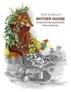 MOTHER GOOSE PDF Grayscale Sampler of 8 Images