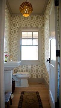 bathroom lattice wallpaper