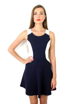 Gianna Dress in Navy  $42.00  Our bestselling shape, this navy features a minimal and sophisticated pattern. Available on MODLOOK29.COM!