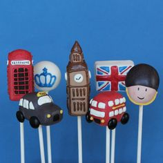 21 Cake Pops for London England British party by SweetWhimsyShop, $75.75
