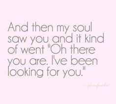 i've been looking for you <3