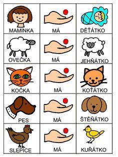 Skladame jednoduche vety Emotions Activities, Educational Activities, Activities For Kids, Baby Time, Classroom Decor, Montessori, Worksheets, Language, Album