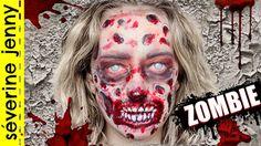 Maquillage Halloween : Zombie Gore / Qui Fait Peur (sans latex)