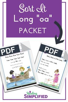 "Fastest ways to teach long vowels or other vowel digraphs. Sort It by spelling, using a Key Sentence, such as ""Go home to show the boat to Joe."" readingSimplified.com/power-up-phonics-activities"