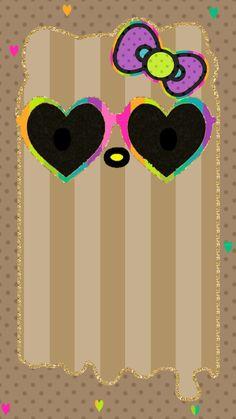 Rainbow Wallpaper, I Wallpaper, Wallpaper Backgrounds, Wallpaper Ideas, Hello Kitty Backgrounds, Hello Kitty Wallpaper, Hello Kitty Pictures, Miss Kitty, Cute Wallpapers