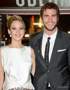 Jennifer Lawrence with Liam Hemsworth