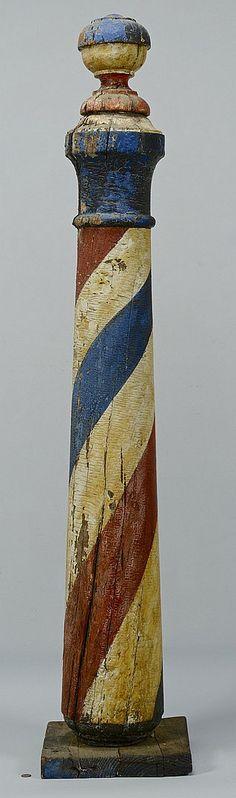 Wonderful patina on this vintage barber pole.