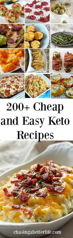 200 + cheap and easy keto recipes #keto #ketogenic #lowcarb