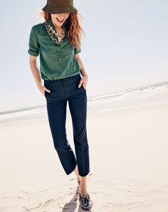 The J.Crew women's Teddie pant. Yes, your favorite summer pants can also be your favorite fall pants.