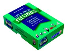 Let's Talk: Feelings is a card game to enable people to become more aware of their feelings. It is an adaptable resource, designed for use as a 5-minute ice breaker, in a one-hour discussion, or in a series of more detailed workshop sessions. It covers a range of feelings, for example: angry, jealous, calm, disappointed, overwhelmed, proud, nervous, frustrated, uncomfortable, curious, left out, loving. https://www.speechmark.net