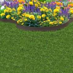 Enhance your outdoor living space with the flexible 20 ft. EZ Border Thin-Line Edging. This Eco-friendly garden edge is made of recycled materials, making it durable and long lasting. Each garden border Metal Edging, Lawn Edging, Garden Edging, Garden Borders, Landscaping With Rocks, Garden Landscaping, Tire Garden, Tyres Recycle, Recycled Garden