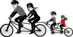 6 beneficios de montar en bicicleta en familia - Wikiduca
