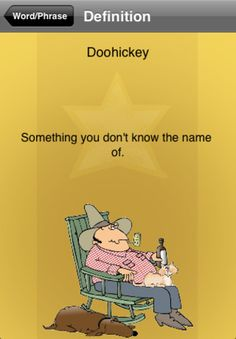 Also known as a whatchamadoodle, thingmajig, a whatchamacallit or a doohickey.