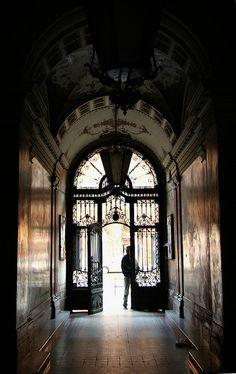 It's just a Gate in Budapest, Hungary. Types of dark hallways that give you that spooky feeling. River Cruises In Europe, Cruise Europe, Beautiful Architecture, Architecture Details, Danube River Cruise, Capital Of Hungary, Budapest Hungary, Visit Budapest, Central Europe