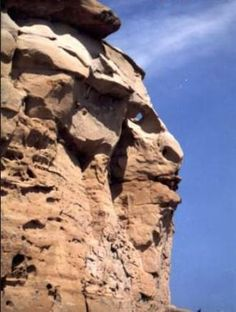 face in cliff