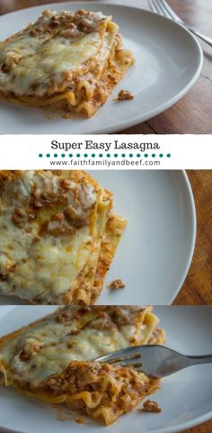 A kid and husband approved lasagna that's super easy, super delicious, and doesn't take forever to make.