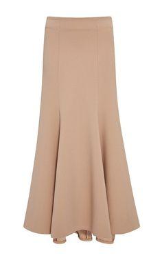 Long Structured Wool Skirt by Jonathan Simkhai Long Skirt Fashion, Fashion Pants, Fashion Outfits, Chicwish Skirt, Dress Pesta, Batik Fashion, Wool Skirts, Midi Skirts, Trendy Dresses