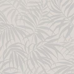 Tropic Beige and Silver Wallpaper