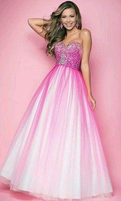 Cute rainbow glitter prom dress