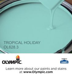 TROPICAL HOLIDAY OL628.3 is a part of the aquas collection by Olympic® Paint.